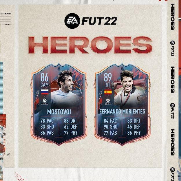 FIFA 22 FUT Heroes: reveladas las stats oficiales de Fernando Morientes, Aleksandr Mostovói y Tim Cahill Ultimate Team