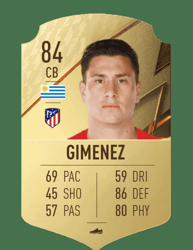FIFA 22 medias: el Atlético de Madrid cuenta con jugadores interesantes para Ultimate Team Giménez