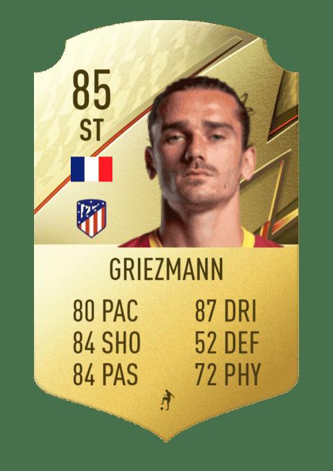 FIFA 22 medias: estas son todas las cartas del Atlético de Madrid en Ultimate Team Griezmann