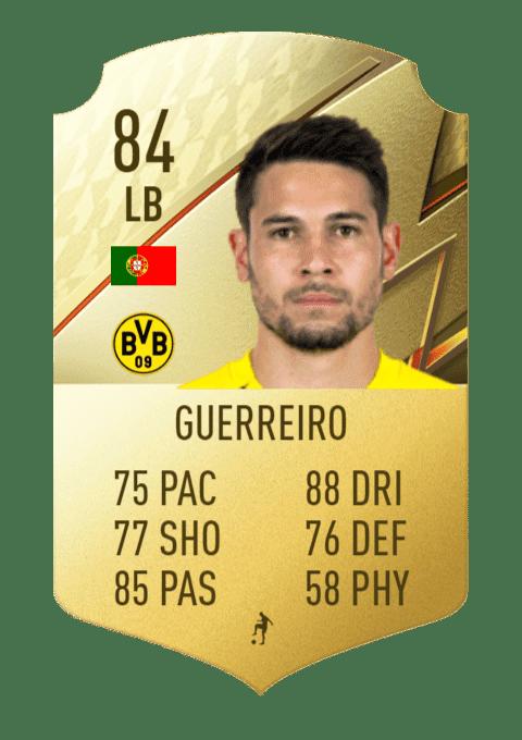 FIFA 22 medias: estas son las cartas del Borussia Dortmund Guerreiro