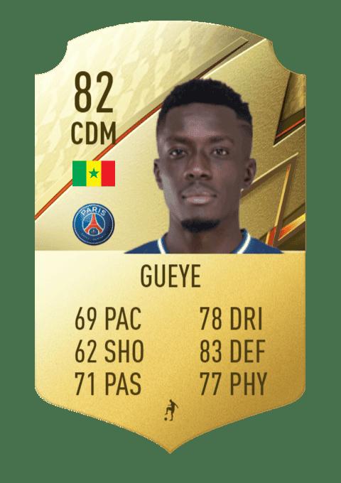 FIFA 22 medias: estas son las cartas oficiales del PSG en Ultimate Team  Gueye