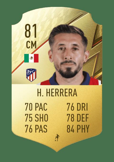 FIFA 22 medias: estas son todas las cartas del Atlético de Madrid en Ultimate Team Héctor Herrera