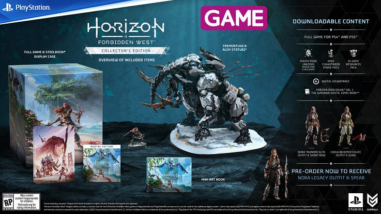 horizon forbidden west collector s edition con contenido adicional en game