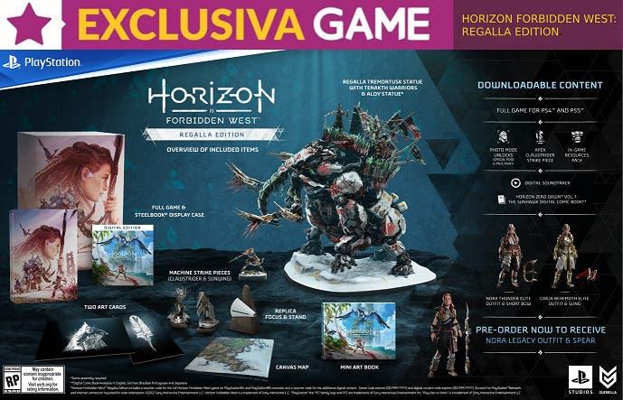 horizon forbidden west regalla edition exclusiva game con contenido adicional
