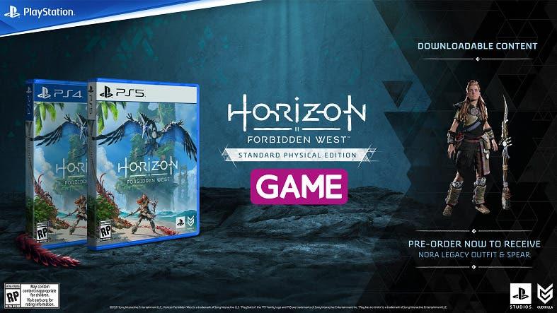 horizon forbidden west standard edition en game con dlc