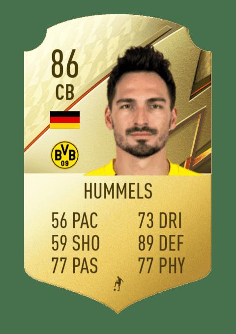 FIFA 22 medias: estas son las cartas del Borussia Dortmund Hummels
