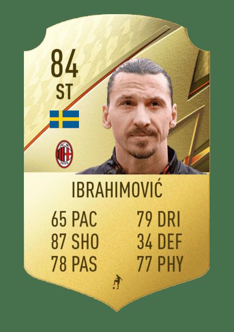 FIFA 22 medias: estos son los mejores tiradores de Ultimate Team y Modo Carrera Ibrahimovic