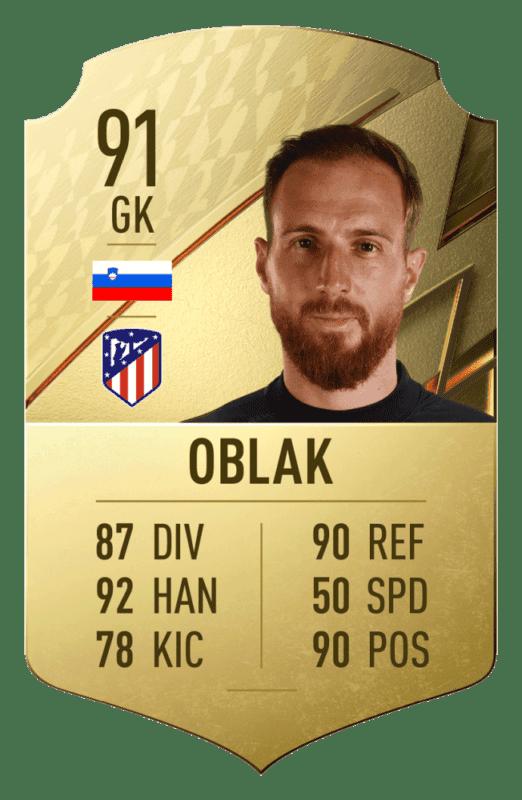 FIFA 22 medias: estos son los 20 mejores jugadores de la Liga Santander en Ultimate Team Oblak