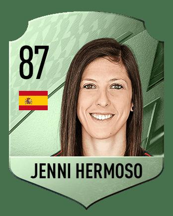 Estas son las mejores jugadoras de FIFA 22 (medias) Jenni Hermoso