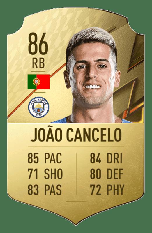 FIFA 22: revelado el top 20 de jugadores de la Premier League con mayor media Joao Cancelo.