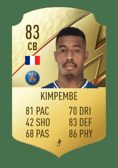FIFA 22 medias: estas son las cartas oficiales del PSG en Ultimate Team Kimpembe