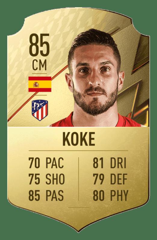 FIFA 22 medias: estos son los 20 mejores jugadores de la Liga Santander en Ultimate Team Koke