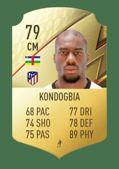 FIFA 22 medias: estas son todas las cartas del Atlético de Madrid en Ultimate Team Kondogbia