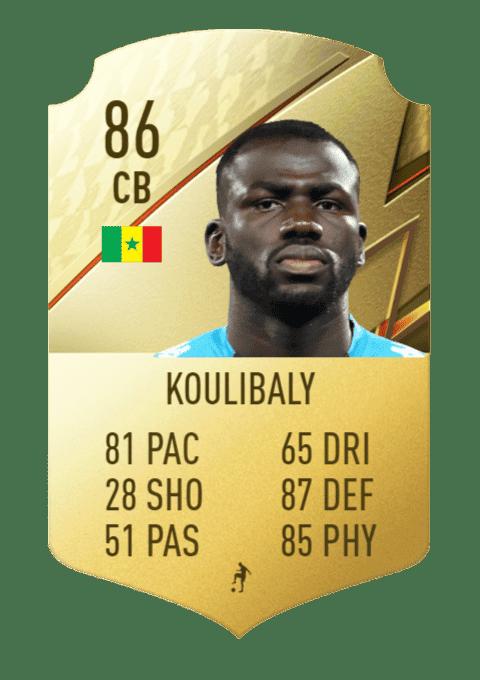 FIFA 22 medias: estos son los futbolistas con más defensa de Ultimate Team y Modo Carrera Koulibaly