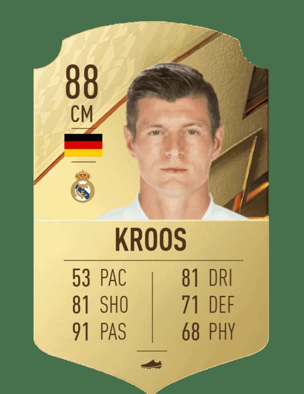 FIFA 22 medias: estas son las cartas oficiales del Real Madrid en Ultimate Team Kroos