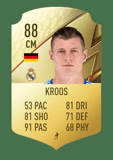 FIFA 22 medias: los mejores pasadores de Ultimate Team y Modo Carrera Kroos