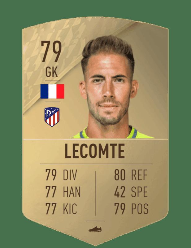 FIFA 22 medias: estas son todas las cartas del Atlético de Madrid en Ultimate Team Lecomte