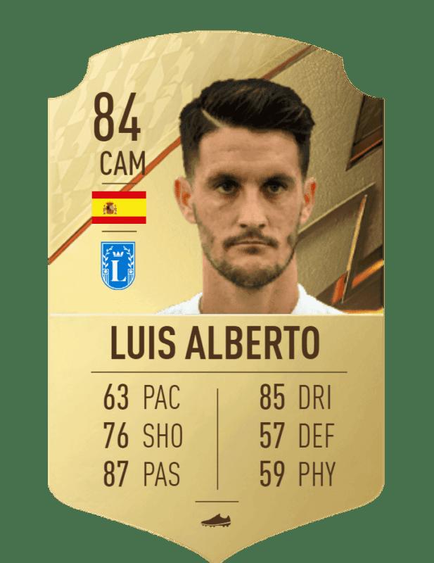 FIFA 22 medias: los mejores pasadores de Ultimate Team y Modo Carrera Luis Alberto