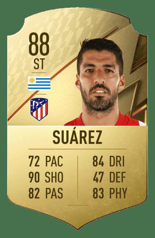 FIFA 22 medias: estos son los 20 mejores jugadores de la Liga Santander en Ultimate Team Luis Suárez