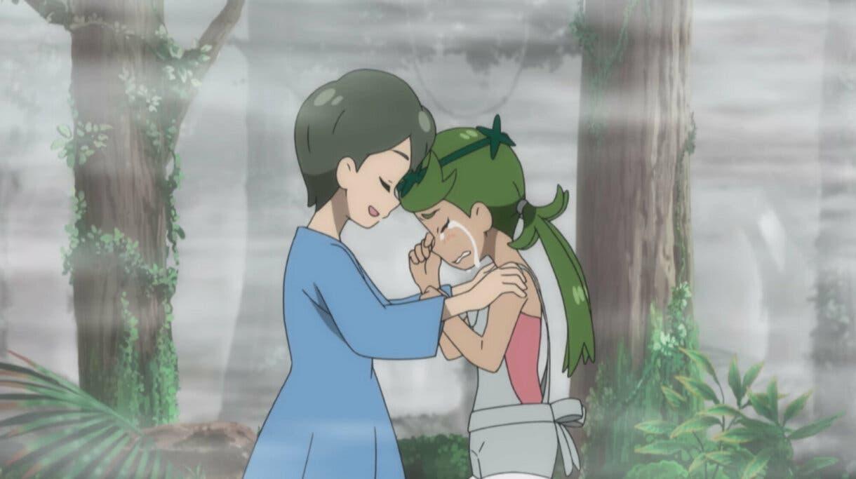 Lulu y su madre anime de Pokemon Sol y Luna