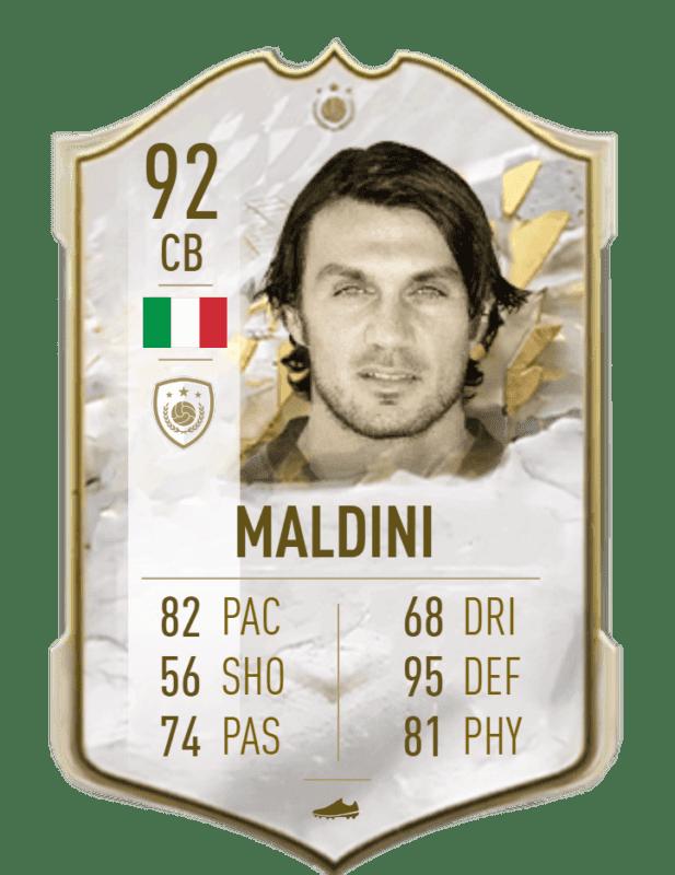 FIFA 22 medias: reveladas más cartas oficiales de Ultimate Team Maldini Icono