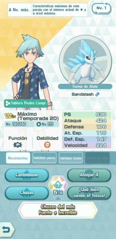 Maximo y Sandslash Pokemon Masters EX