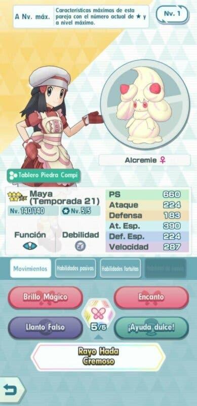Maya y Alcremie Pokemon Masters EX