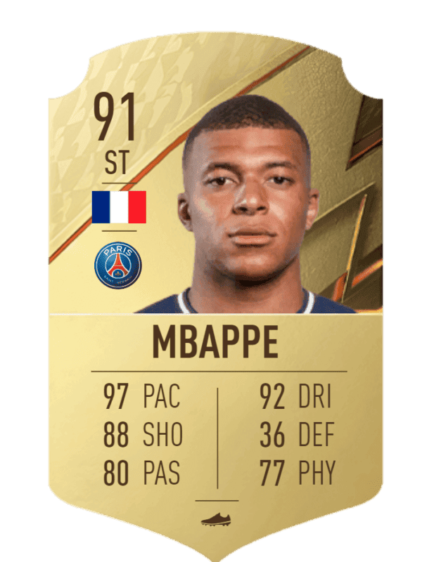 FIFA 22 medias: reveladas más cartas oficiales de Ultimate Team Mbappé