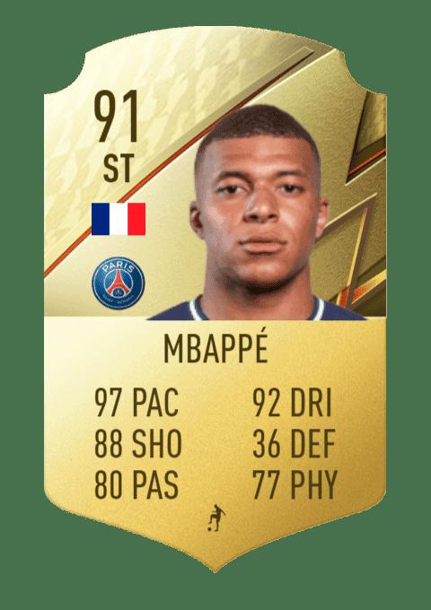 FIFA 22 medias: estas son las cartas oficiales del PSG en Ultimate Team Mbappé