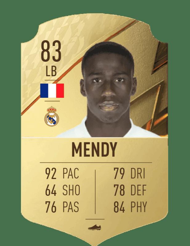 FIFA 22 medias: estas son las cartas oficiales del Real Madrid en Ultimate Team Mendy