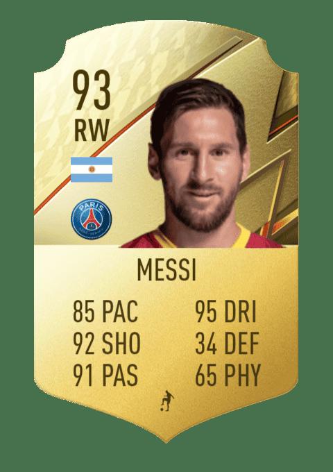 FIFA 22 medias: estas son las cartas oficiales del PSG en Ultimate Team Leo Messi
