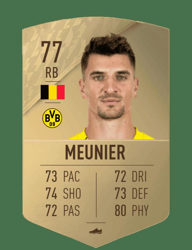 FIFA 22 medias: estas son las cartas del Borussia Dortmund Meunier