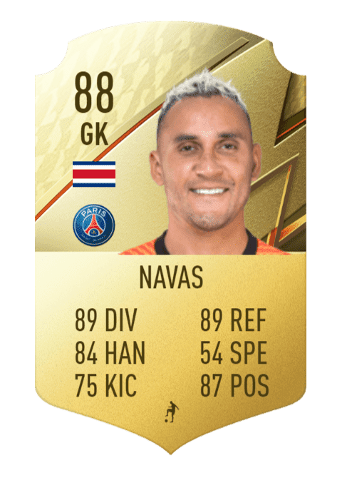 FIFA 22 medias: estas son las cartas oficiales del PSG en Ultimate Team Keylor Navas