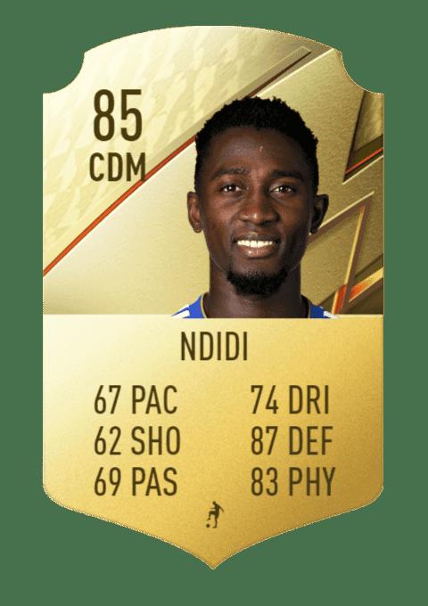 FIFA 22 medias: estos son los futbolistas con más defensa de Ultimate Team y Modo Carrera Ndidi