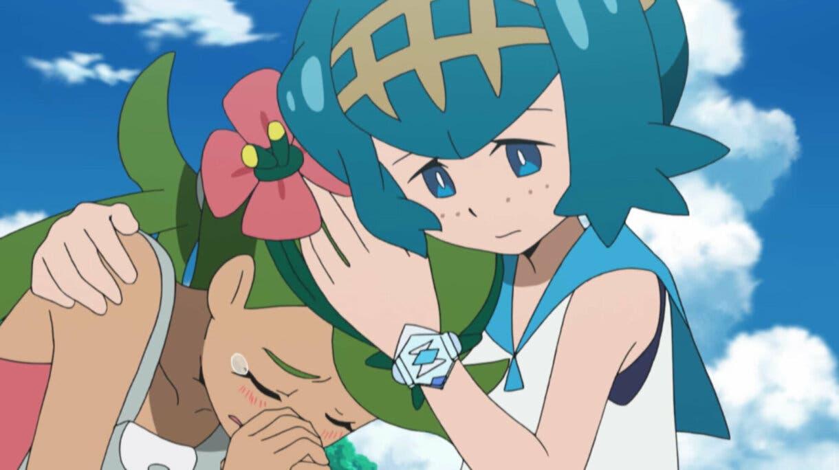 Nereida y Lulu anime de Pokemon Sol y Luna