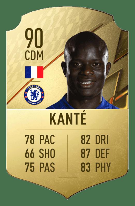 FIFA 22: revelado el top 20 de jugadores de la Premier League con mayor media N´Golo Kanté