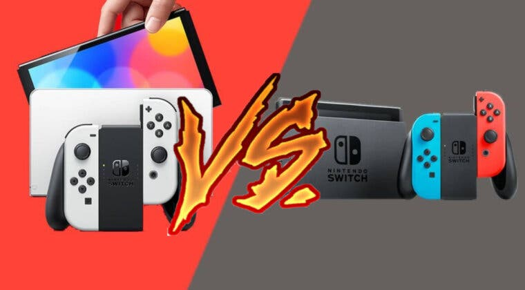 Imagen de Así se ve en la vida real el modelo OLED de Nintendo Switch en comparación con el original
