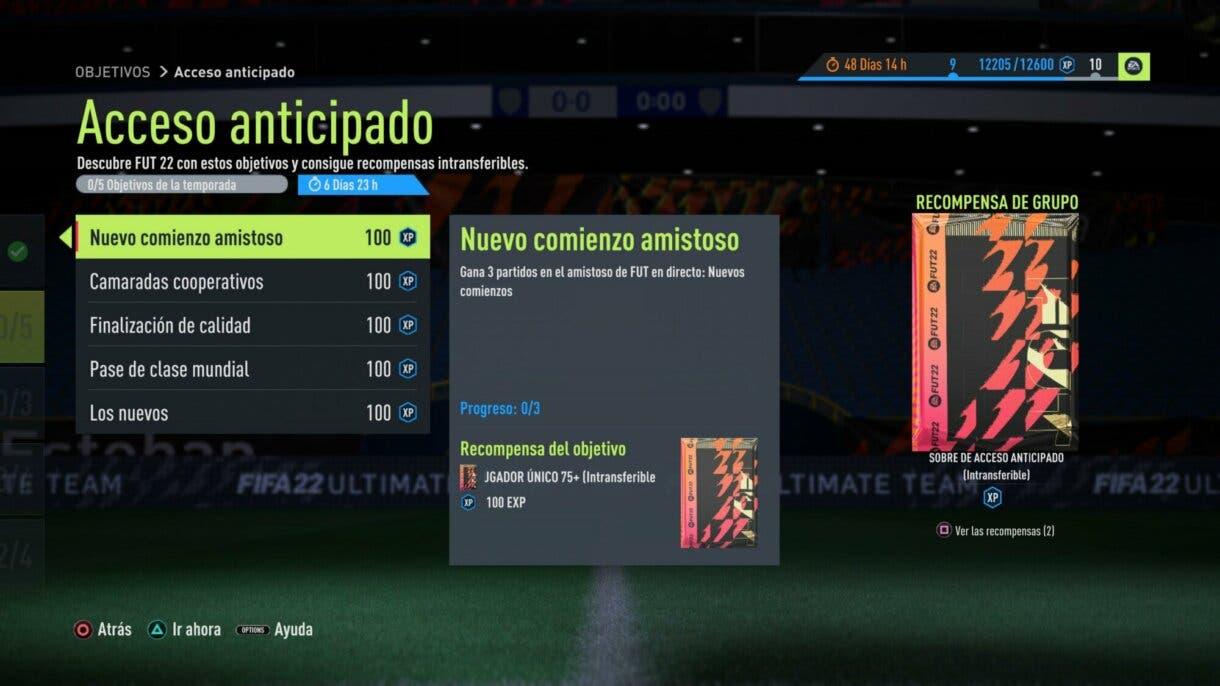 FIFA 22: estos son los packs free to play exclusivos del acceso anticipado Ultimate Team