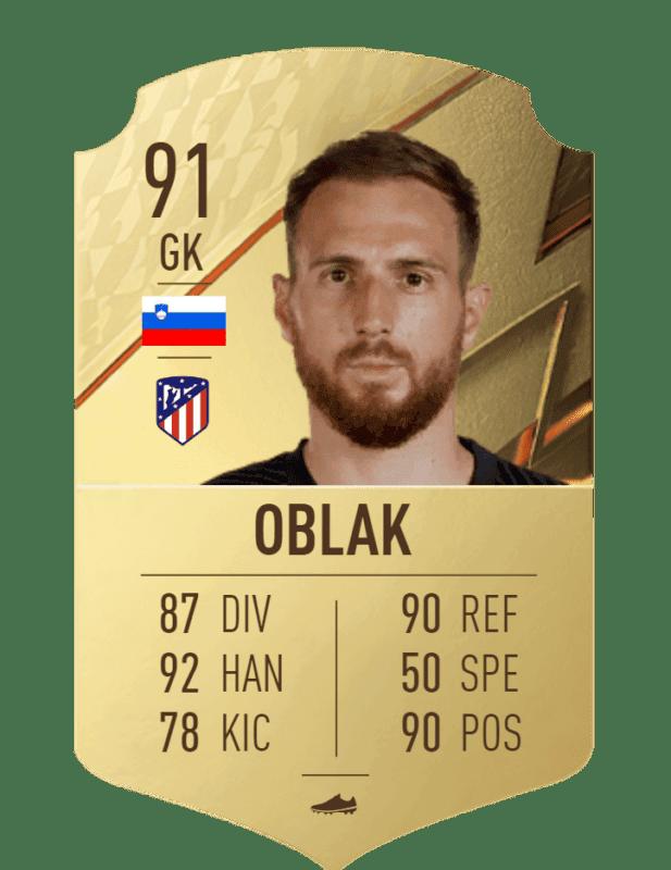 FIFA 22 medias: el Atlético de Madrid cuenta con jugadores interesantes para Ultimate Team Oblak