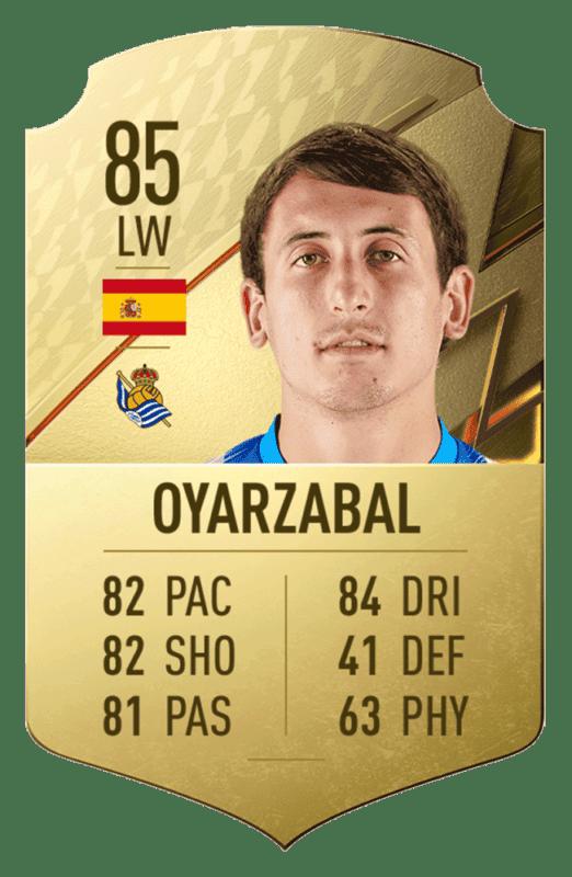 FIFA 22 medias: estos son los 20 mejores jugadores de la Liga Santander en Ultimate Team Oyarzabal