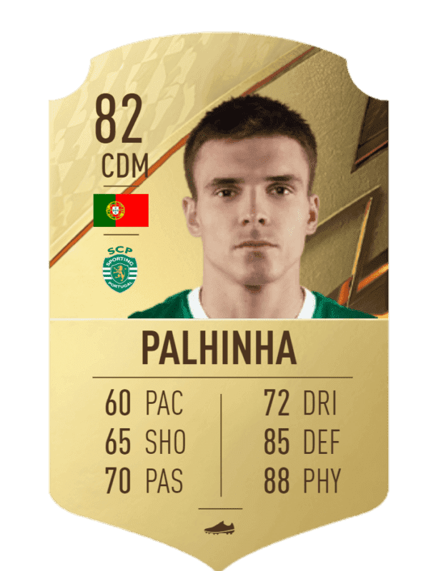 FIFA 22 medias: los jugadores con más físico en Ultimate Team y Modo Carrera Palhinha