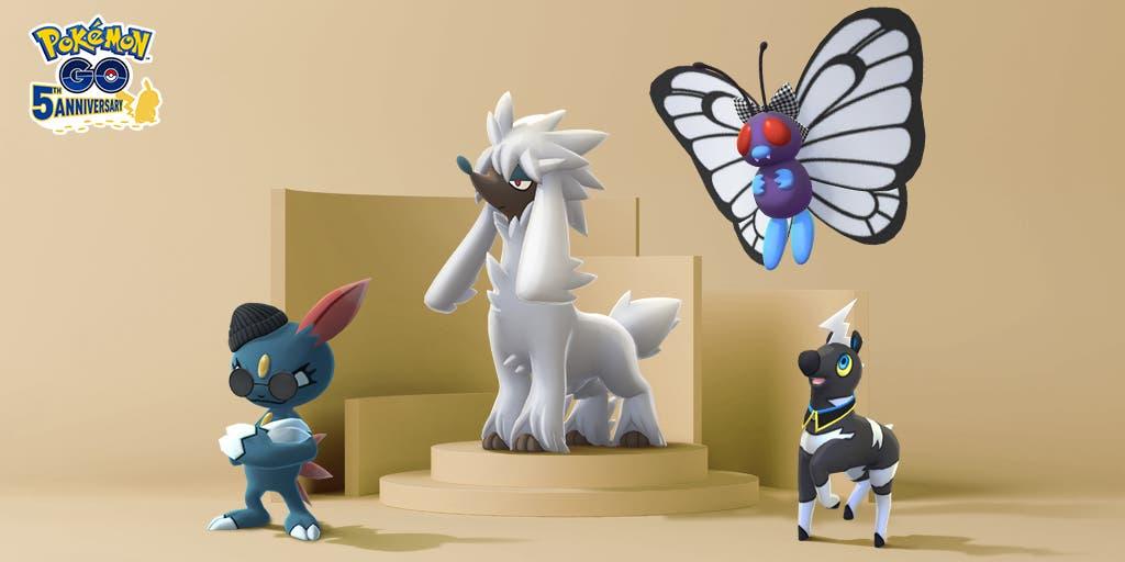 Pokemon GO Semana de la Moda 2021 Furfrou Sneasel Butterfree Blitzle