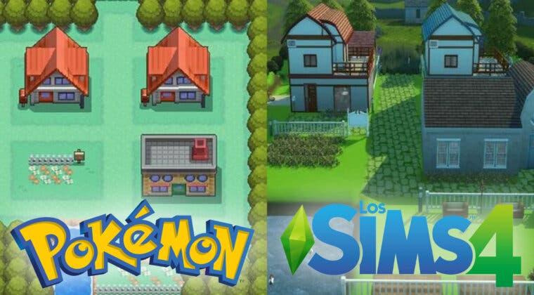 Imagen de Así sería el mundo Pokémon en Los Sims 4; un fan recrea sus localizaciones favoritas