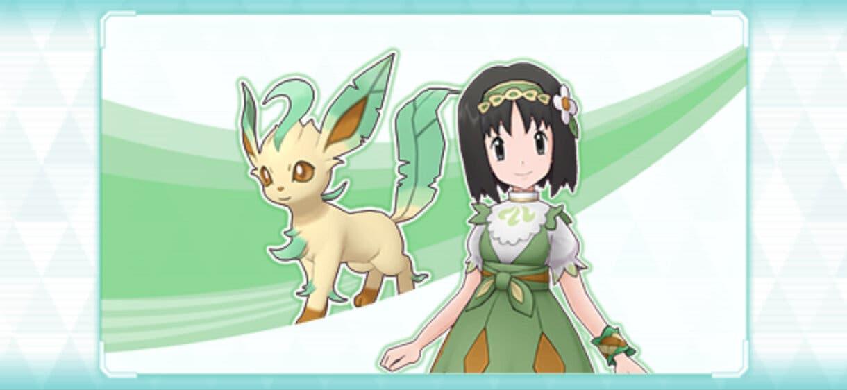 Pokemon Masters EX Erika y Leafeon
