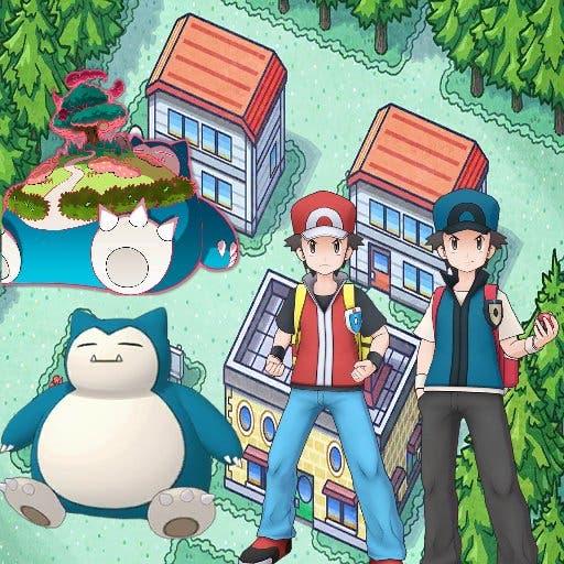 Pokemon Masters EX Rojo y Snorlax