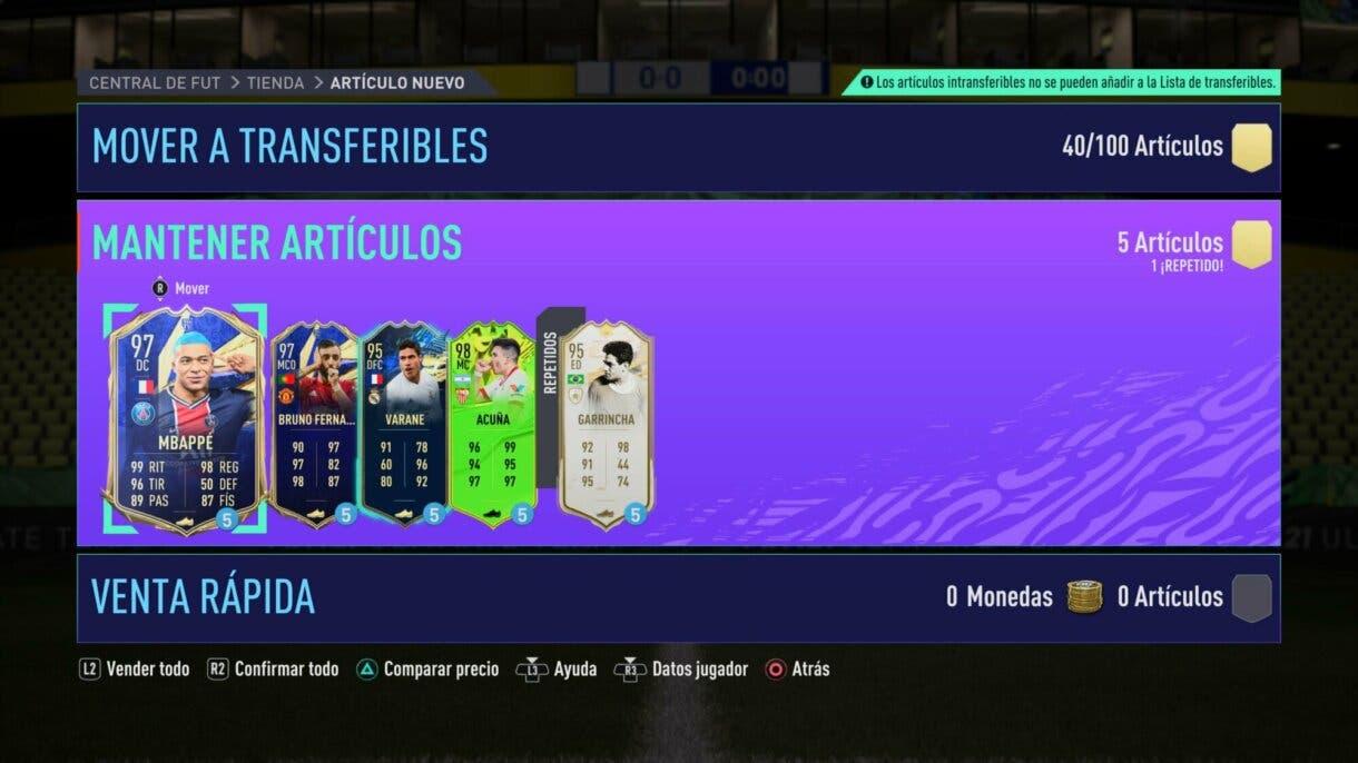 FIFA 22: algunas de las mejores cartas de Ultimate Team ya están disponibles como cedidas gratuitas