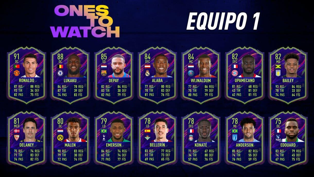 FIFA 22 Ultimate Team Predicción Ones to Watch OTW Equipo 1
