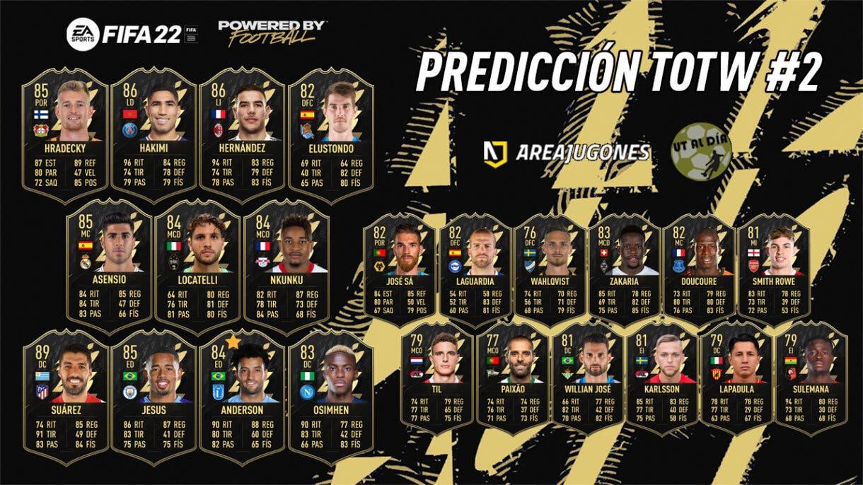 FIFA 22 Ultimate Team Predicción Equipo de la Semana TOTW 2