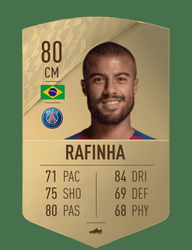 FIFA 22 medias: estas son las cartas oficiales del PSG en Ultimate Team Rafinha