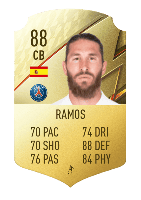 FIFA 22 medias: estas son las cartas oficiales del PSG en Ultimate Team Sergio Ramos